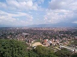 Vy over Katmandu og Katmandudalen.