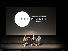 Keith Scholey discussing Our Planet at the TIFF Bell Lightbox.