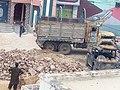 Kekra unloading construction material in Tharparkar.jpg