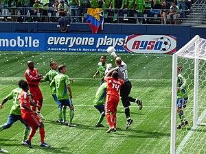 2009 Seattle Sounders FC season - Kasey Keller making a save against Toronto FC