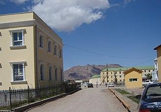 Khovd (city) - Street in Khovd