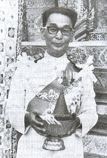 Khuang Aphaiwong Prime Minister of Thailand