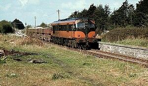 Navan Junction railway station - Navan Junction in 1982 with a Kingscourt train.