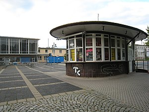 Sangerhausen station - Round kiosk built in 1957 (2015)