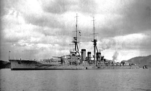 Japanese battleship Kirishima - Kirishima moored at Sasebo in December 1915