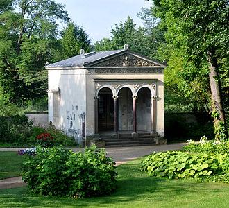 Park Glienicke - Curiosity Pavilion, view from garden