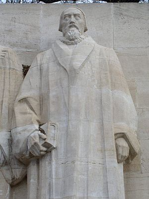 John Knox - Statue of John Knox at the Reformation Wall monument in Geneva