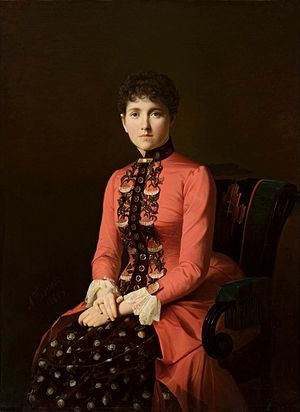 Anna Karenina - Portrait of a young lady (so-called Anna Karenina) by Aleksei Mikhailovich Kolesov, 1885, National Museum in Warsaw