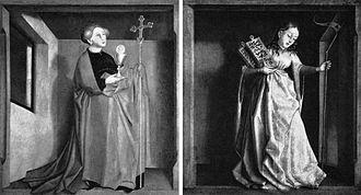 Jewish schisms - Ecclesia and Synagoga by Konrad Witz (1400–1447).