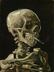 Vincent van Gogh: Skull of a Skeleton with Burning Cigarette