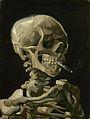 Kop van een skelet met brandende sigaret - s0083V1962 - Van Gogh Museum.jpg