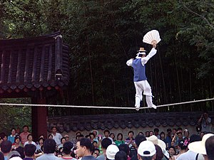 Tightrope walking - Jultagi, the Korean tradition of tightrope walking