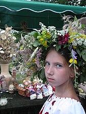 Kraina Mriy Ukraine folk costume flower wreath