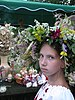 Ukrainian flower wreath