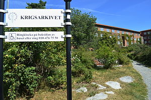 Military Archives of Sweden - Krigsarkivet (The Military Archives) during the summer. Östermalm borough, Stockholm.