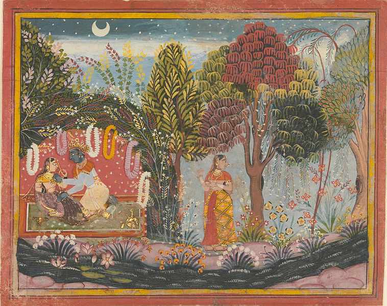 File:Krishna and Radha in a Bower.jpg