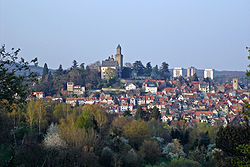 Old Town of Kronberg with the Kronberg Castle
