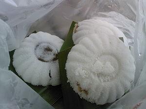 Kue putu mangkok - Kue putu mangkok or kueh tutu in Singapore