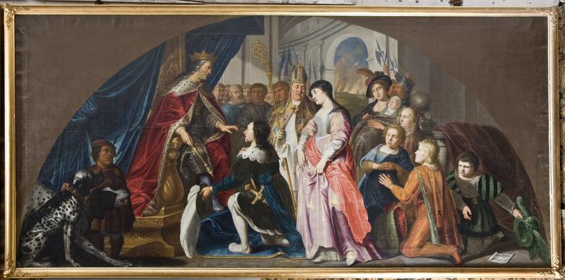 Kung Harald Klak kommer till Kejsaren Ludvig år 826. Isaac Isacsz. Måleri. Historiebild - Skoklosters slott - 85995