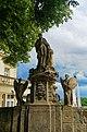 Kutná Hora - Barborská - Statue of Sv.Barbora, the Miners' Saint.jpg