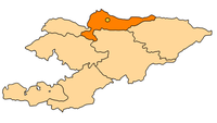Political map of Kyrgyzstan