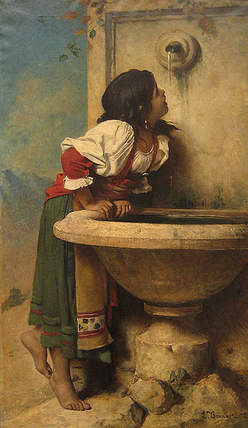 Fitxategi:Léon Bonat - Roman Girl at a Fountain.jpg