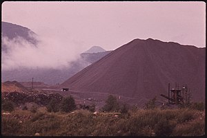 Tahawus, New York - Pile of tailings, 1973