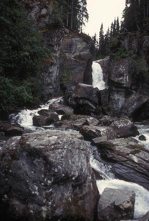 Valdez–Cordova Census Area, Alaska - The falls at Liberty Falls State Recreational Area