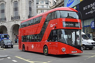 London Buses route 88 - Go-Ahead London New Routemaster in August 2015