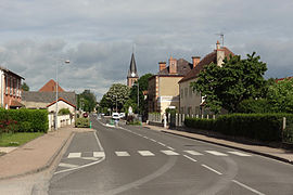 The main road in La Ferté-Hauterive