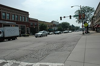 La Grange, Illinois - The downtown district of La Grange