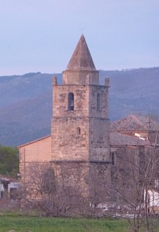 La Granja - church at sunset (13540601724) (cropped).jpg