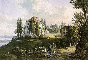 Arenenberg - Arenenberg about 1840 (by Labhardt)