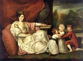 Charlotte Williams-Wynn (aristocrat) - Lady Williams-Wynn and her children in 1778, by Joshua Reynolds