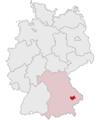Lage des Landkreises Dingolfing-Landau in Deutschland.png