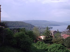 Bracciano - The lake as seen from Largo Falcone and Borsellino, near the castle.