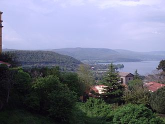 Bracciano - The lake as seen from Largo Falcone and Borsellino, near the castle.