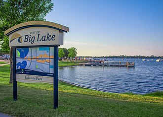 Big Lake, Minnesota - Lakeside Park in Big Lake