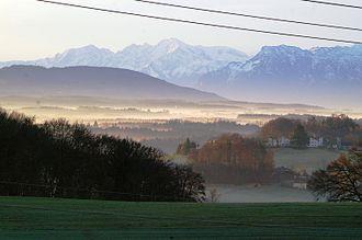 Geretsberg - Image: Landschaft bei Geretsberg Bezirk Braunau