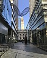 Lane of George Street, Brisbane with Brisbane City Hall in the background.jpg