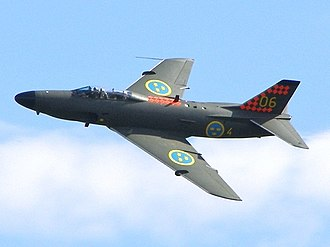 Saab 32 Lansen - A Saab J 32B at Kristianstad Airshow in 2006