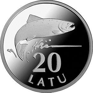 Gunārs Lūsis - 20 Latu silver coin