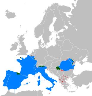 Status delle lingue romanze in Europa: lingua ufficiale lingua co-ufficiale lingua parlata, ma non ufficiale