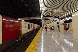 Lawrence station (Toronto) - Image: Lawrence Station Platform
