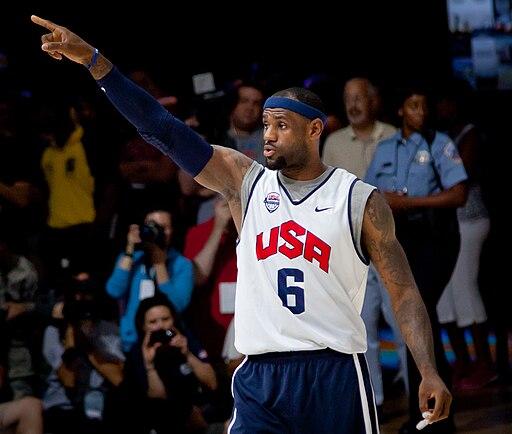 LeBron James 2012 USA team