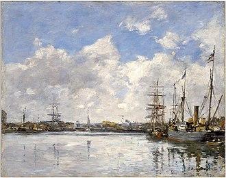Eugène Boudin - Le Havre, The Port (1884), Brooklyn Museum