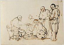 Lavement des pieds - Rembrandt
