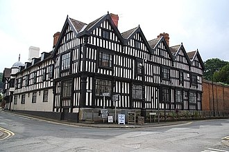 Ledbury - Ledbury Park, built ca. 1600 by the Biddulph family, has been called one of England's finest timber-framed houses