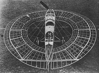 Eric Gordon England - Lee-Richards Annular Monoplane No. I before its only flight 23 November 1913