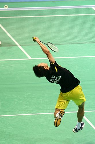 Lee Chong Wei - Playing in the semifinals of the 2008 Olympics